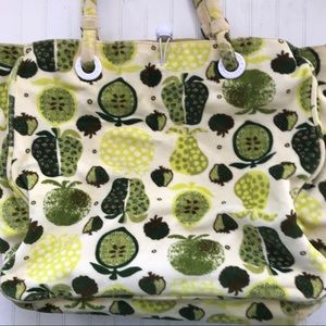 Gap Apple Pear Fruit Pattern Lg Tote Soft Fabric